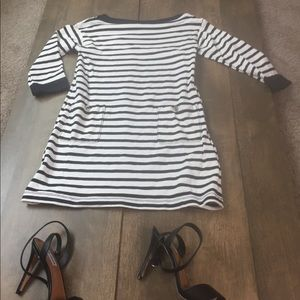 Kate Spade 3/4 sleeve striped dress